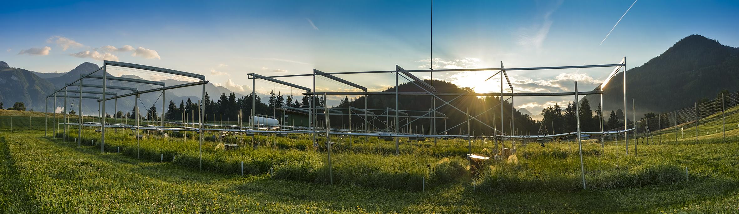 ClimGrass Anlage der HBLFA Raumberg-Gumpenstein
