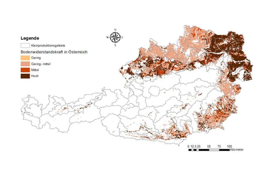 Bodenwiderstandskraft in Österreich