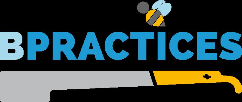 """Das Logo symbolisiert die imkerliche Arbeit, das seit Jahrtausenden schriftlich überlieferte Imkerwissen und den Fleiß der Honigbiene. Es zeigt im unteren Teil einen sogenannten \""""Schabermeißel\"""". Dieser ist ein Werkzeug, das bei jeder Bearbeitung der Bie..."""