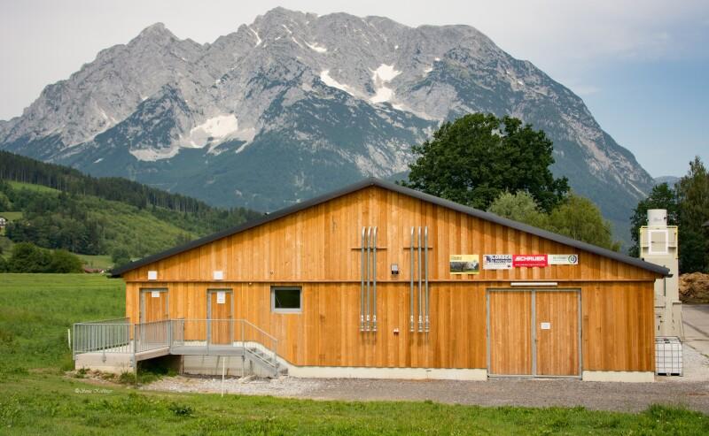 Schweineforschungsstall der HBLFA Raumberg-Gumpenstein, Ostansicht